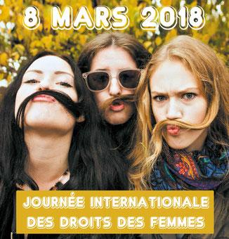 Jeudi 8 mars 2018 - Journée internationale des droits des femmes