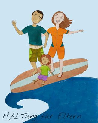 Als Familie auf den Wellen des Alltags reiten - Haltung für Eltern