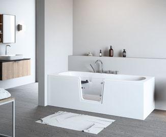 Modell QUINTO mit weißer Verkleidung