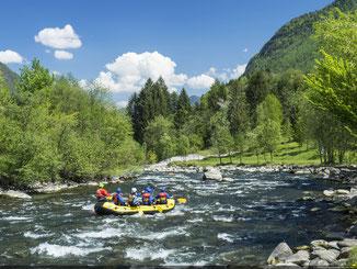 Rafting sul fiume Noce a Caldes, Valle di Sole Trentino