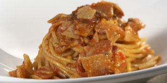 Spaghetti di Kamut al guanciale di maiale agrisalumeria luiset