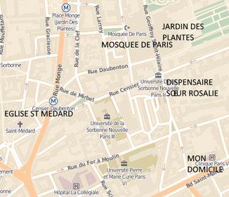 Plan du quartier avec mention des lieux évoqués