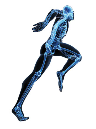 X-ray action-man leaping to new heights and ascending with unrestricted freedom of movement
