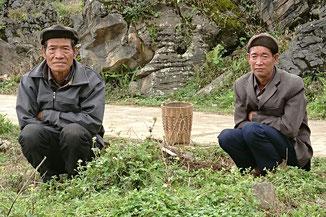 Angehörige einer Ethnie im äußersten Norden Vietnams