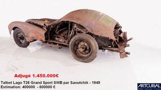 vente artcurial maillon talbot 1949