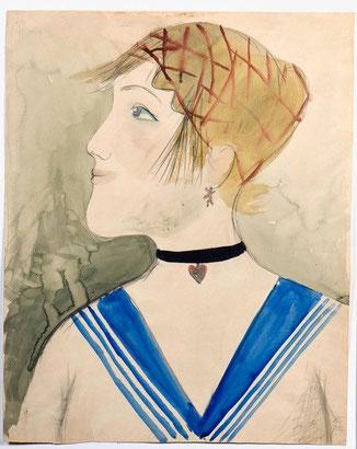 Otto Dix, Fabrikmädchen,1922 Aquarell und Bleistift auf Karton, 49,5 x 39,5 cm Von der Heydt-Museum Wuppertal© VG Bild-Kunst, Bonn 2021
