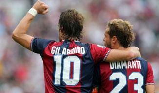 Alberto Gilardino e Alessandro Diamanti hanno giocato insieme nel 2013 nel Bologna e nel 2015 nel Guangzhou Evergrande