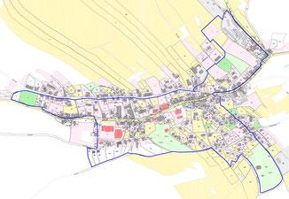Das kernstädtische Untersuchungsgebiet in Schönheide/E.