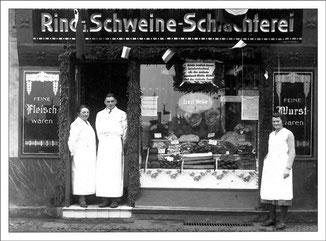 Anno 1921, Fleischerei Ernst Welke - Bernauer Straße