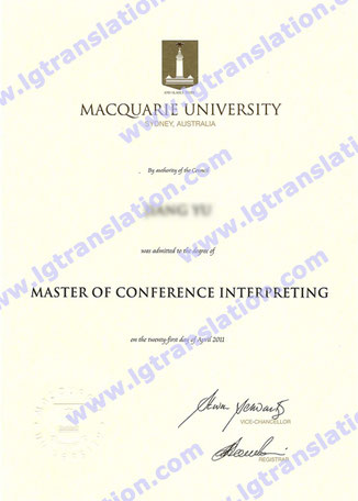 Master of Conference Interpreting from Macquarie University, Jiang Yu