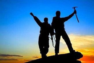 Ein tolles Gefühl wenn man den Gipfel erreicht hat!