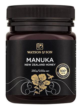 Manuka Honigglas im britischen Style