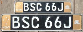 australische Kennzeichen NSW Sydney