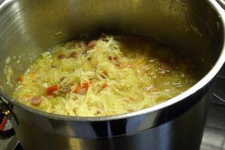 Rezept zum Entschlacken, Sauerkrautsuppe