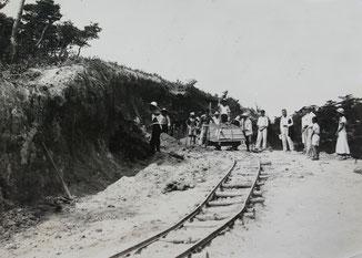 患者作業(鉄道工事)