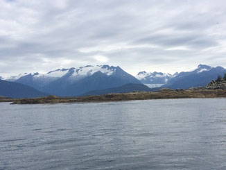 View from ferry in Alaska