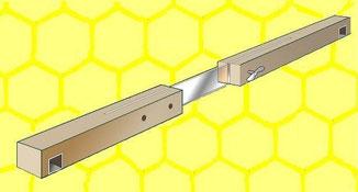 Gerät zur einseitigen Passage durch Bienen