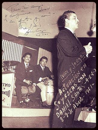 Daniel Santos, en Chile en 1961.
