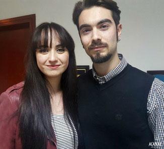 Lorena Martin y Roberto Garcia (ACANAE) en el Diario de Avisos