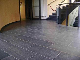 Fußboden in Nero Assoluto
