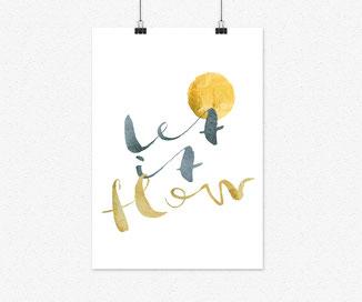 A4 Plakat-let ist flow