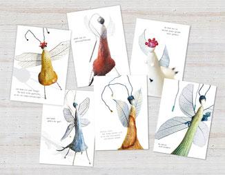 postkarten Figurina lina-art A