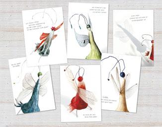 postkarten Figurina lina-art B