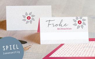 tischkarten frohe weihnachten zweigstern partyspiel