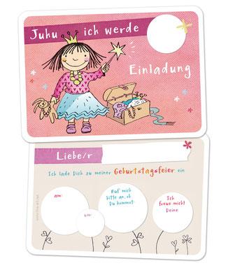 Einladungskarte Kindergeburtstag prinzessin