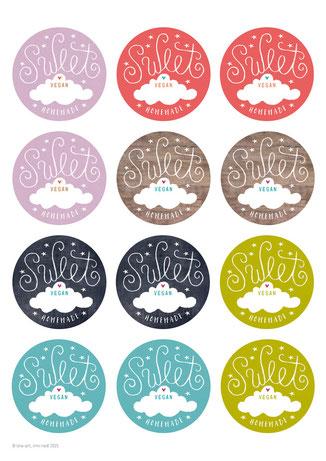 Etiketten weihnachtsaufkleber, sweet, 60mm