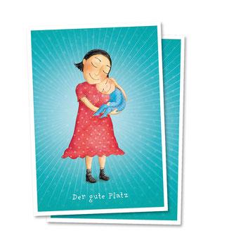 Postkarte, mama ist die beste