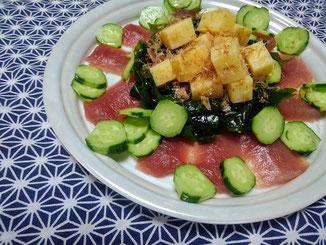 Salade de Comté à la japonaise(コンテとまぐろの和風サラダ)
