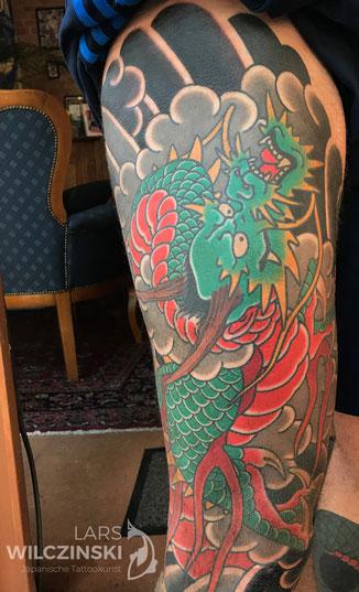 Lars Wilczinski, Tattookünstler, Tattoo-Atelier Berlin, Ryu, Tattoomotiv, Japanische Tattoos und ihre Bedeutung, Japanese Tattoo, Drache