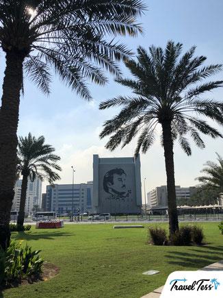 Muurschildering in Doha
