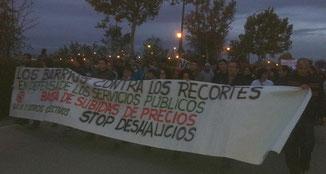 Imagen de la manifestación publicada en twitter por @siemprenlucha