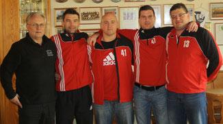 Das Trainertrio der DJK Eggolsheim in der kommenden Saison (v.l): Ralph Turnwald, Michael Rödl und Frank Scheidel