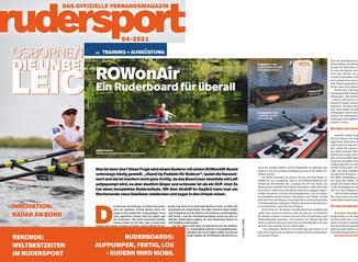 Das Rudersport-Magazin berichtet von einem überzeugenden ROWonAIR Test