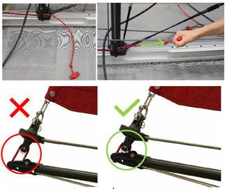 XCAT Montage-Hinweis: Spannleine beim Bugspriet bis zum Anschlag anziehen!