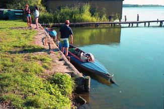 mit dem Faltboot über den Müritz-See