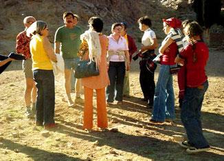 diese israelische Gruppe nahm mich mit zum Berg  Moses