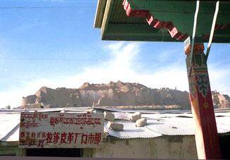 die zerstörte Kloster Burg in Shigatse