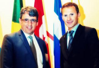 Avec le PDG du Centre de la Francophonie des Amériques (2011-2019), M. Denis Desgagné