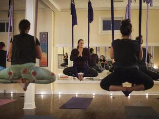 Könnte Aerial Yoga zu einem Trend werden? Foto: Stephanie Strasburg