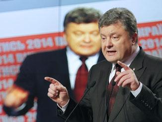 Der ukraininische Staatschef Poroschenko kann auf eine solide Mehrheit für seinen EU-Kurs setzen. Foto: Sergey Dolzhenko