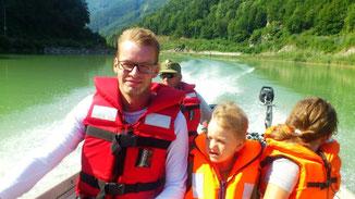 Bootfahrt an der Enns mit der Wasserwehr Reichraming