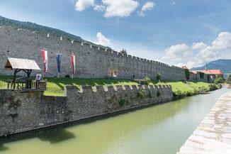 Stadtmauer, Zwinger, Wassergraben