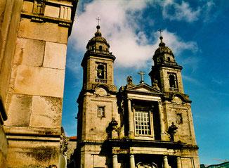 am Domplatz von Santiago