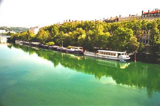 über die Rhone - mitten in Lyon