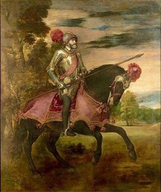 Kaiser Karl V. nach seinem Sieg am Mühlberg