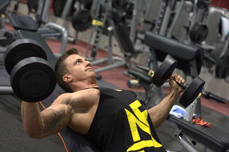 Fitness Muskeln Training Mann